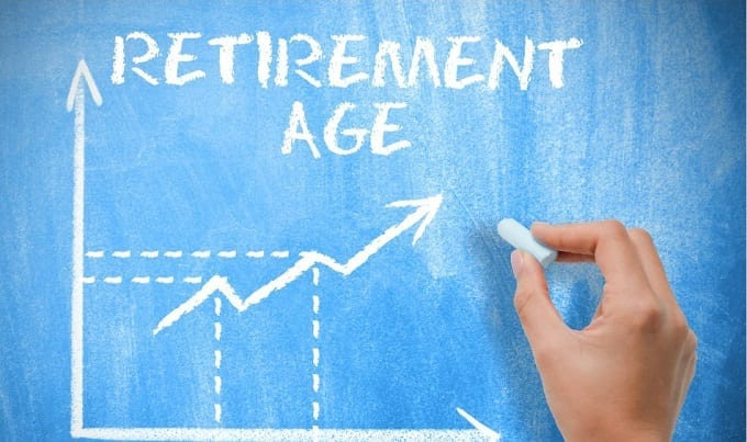 Illustration Of Growing Average Retirement Age