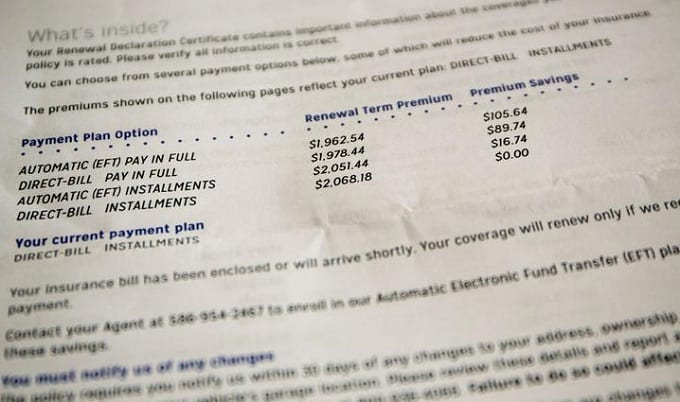 Insurance Monthly Payments