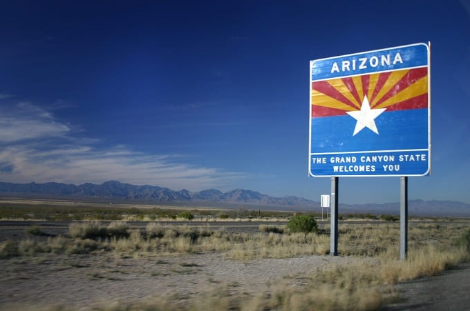 Welcome To Arizona Sign   Best Retirement systems