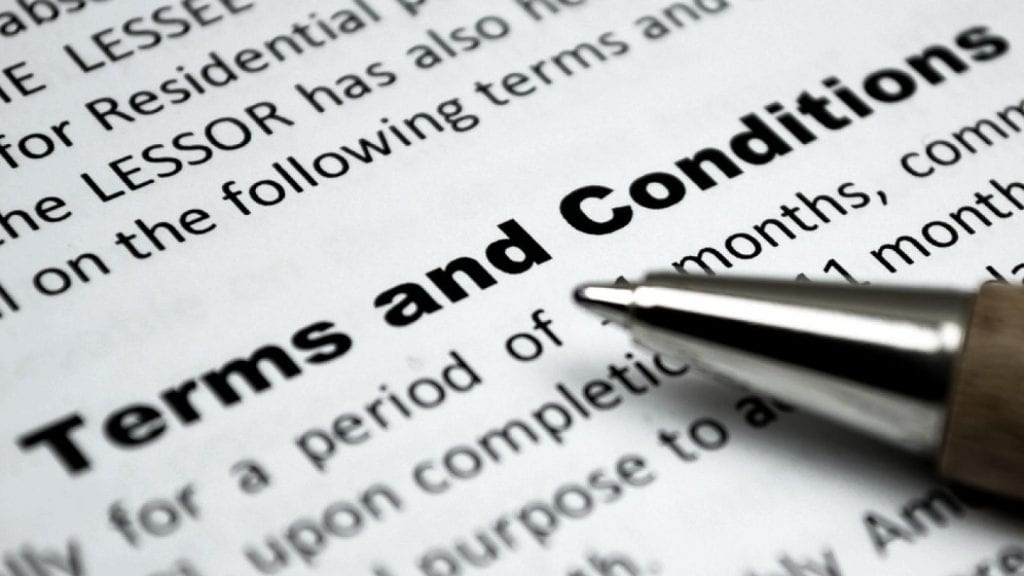 Conditions and Terms