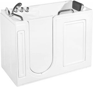 Empava Acrylic Walk-InTub Freestanding Soaking Spa Left Side Door Bathtub