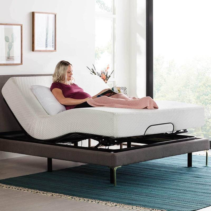 Adjustable bed for heavy people