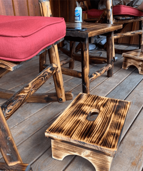Wooden bed step stool